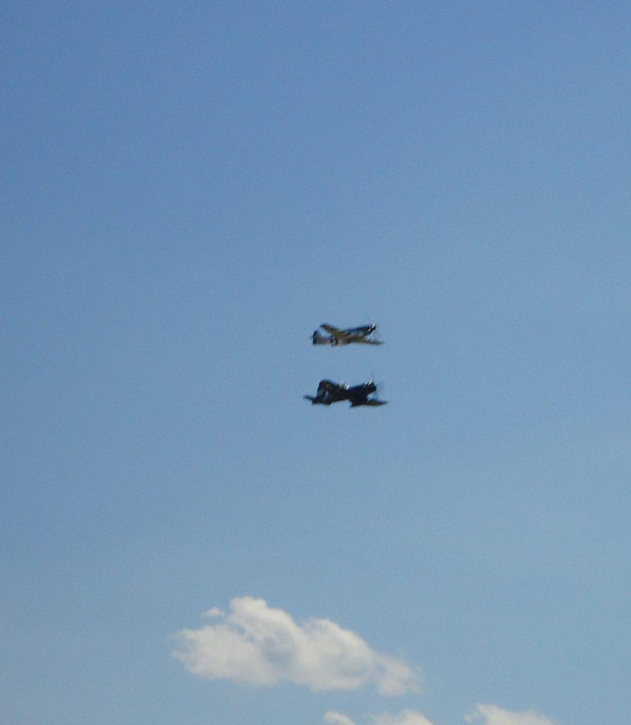 WWII Era planes display