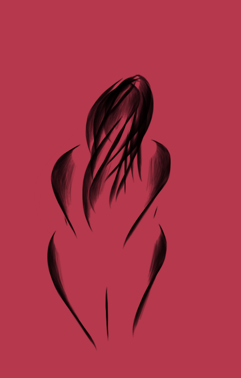 Hiding woman art