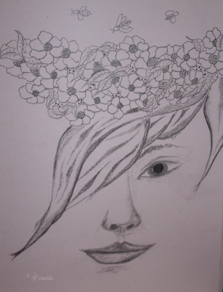 crowned with flowers