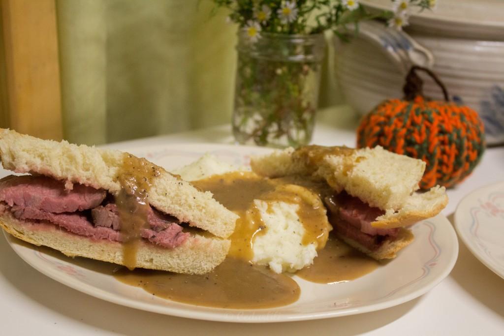 hot beef sandwiches.