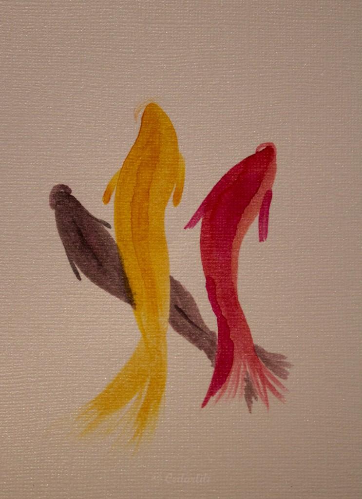 sumi goldfish painting