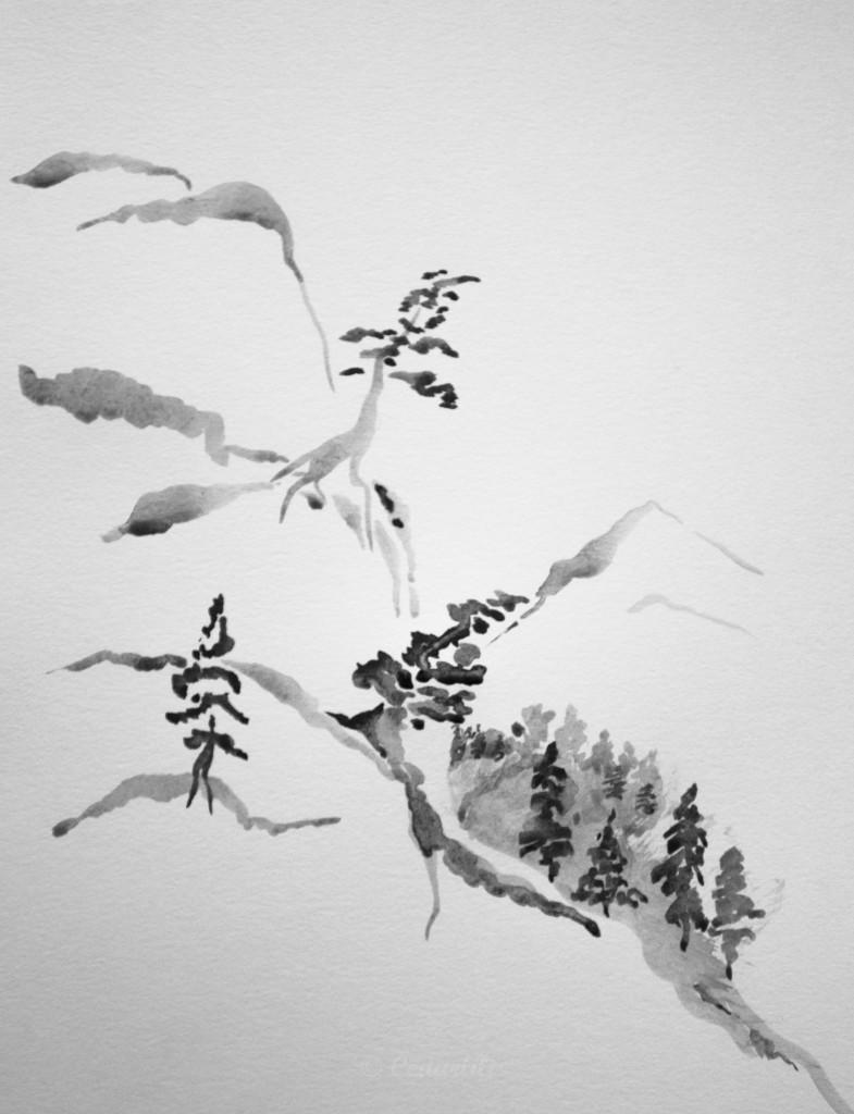 ink landscape