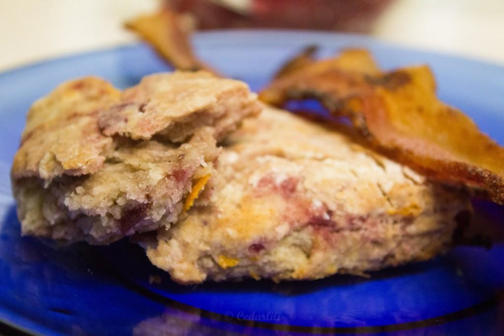 scones and bacon