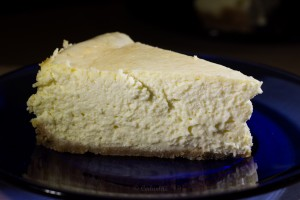 Fluffy cheesecake! This is not a dense version at all.