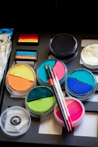 Brushes and paints