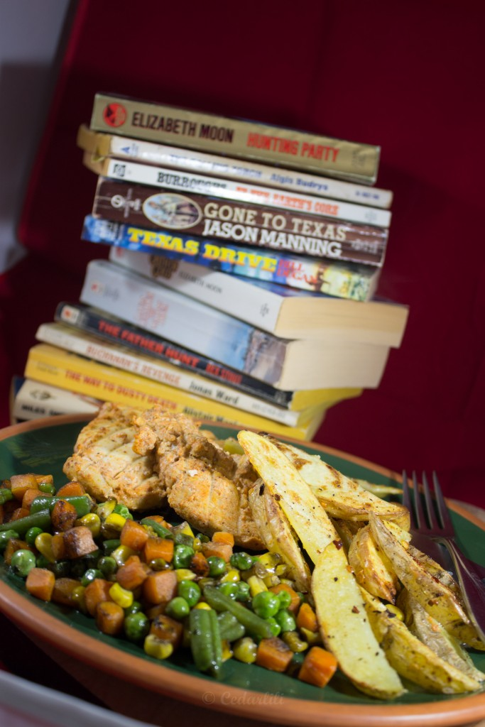 Books and nummy dinner