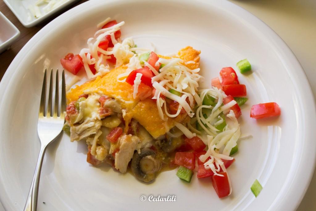 Tedd Roberts' Chicken Enchilada Casserole