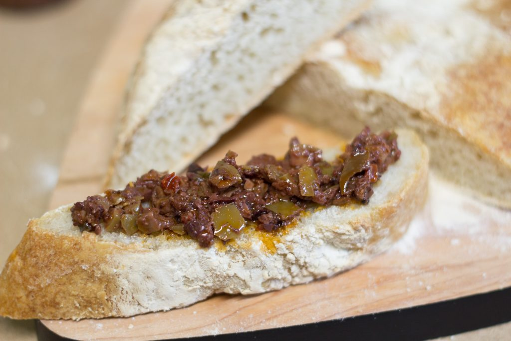 Tapenade and fresh bread. It doesn't get much better than this.