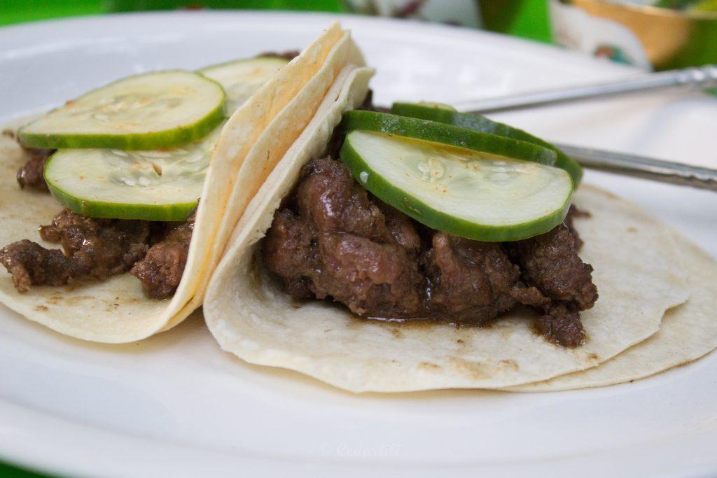 Korean Elk Taco with Quick Pickles